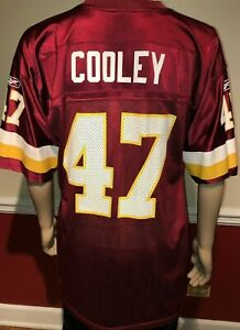 hot sales 97131 041c9 Details about Washington Redskins Chris COOLEY #47 Away Jersey Reebok NFL  Equipment