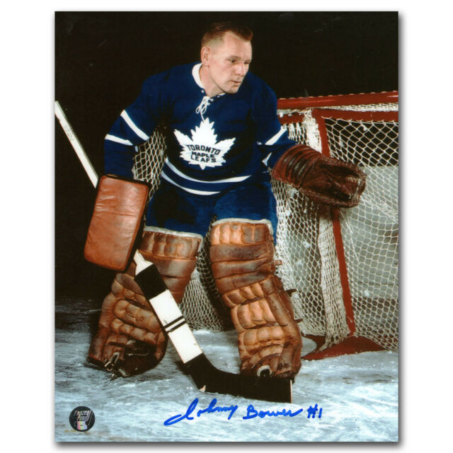 JOHNNY BOWER  ( MAPLE LEAFS )  BOTH PHOTOS  - 5 x 7 SIGNED PHOTO REPRINT