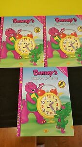 3 Barney S Time For Counting Coloring Books 23 Colorful Stickers 9781570644498 Ebay