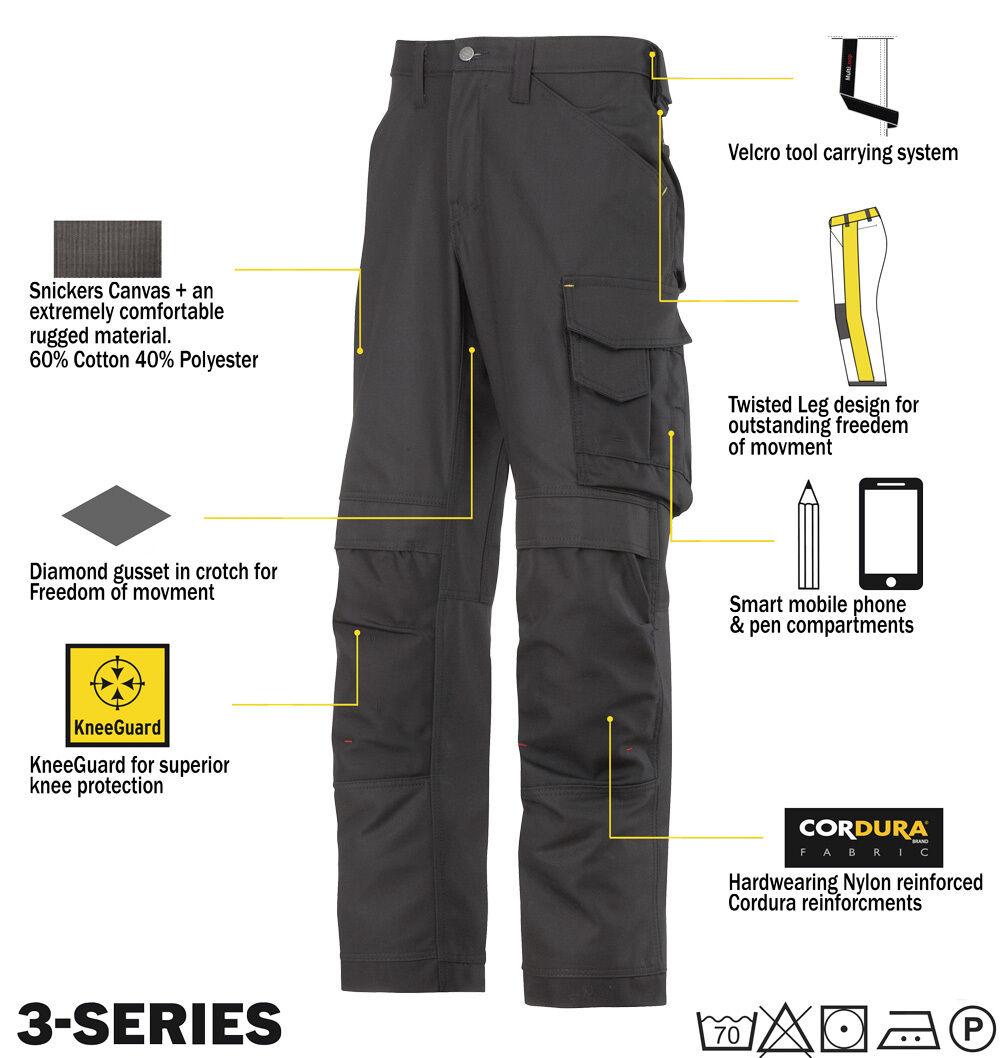 SNICKERS 3314 lavoro Pantaloni tela pantaloni da lavoro 3314 Snickers DIRETTO Nero e4748a