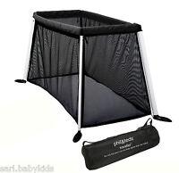 Lit Parapluie Traveller Noir Phil And Teds - Lit De Voyage + Protection Soleil