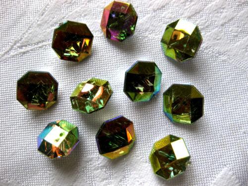 15 Knöpfe achteckig 14mm viele Farben,Farbe wählbar Kunststoff K58