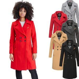 superior quality 90e8d 2dbb1 Details zu Navahoo Damen Mantel Trenchcoat Wintermantel Übergang Jacke  Parka Lang NEU Wooly