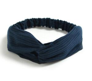Fascia per capelli elastica donna nodo elegante blu | eBay