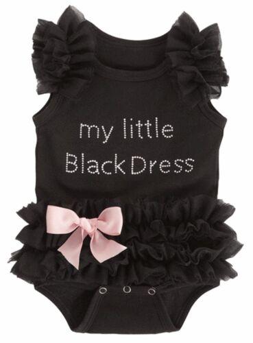 Ganz Baby Girls Embroidered Little Black Dress Bodysuit 0-12 Months