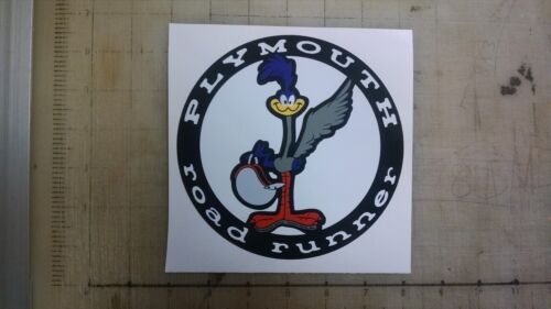 "Vintage Plymouth Road Runner sticker decal 6/"" diameter"