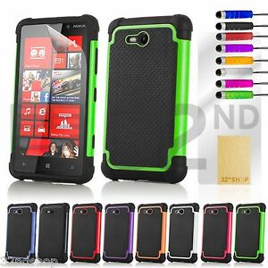 NEW-STYLISH-SHOCK-PROOF-SERIES-CASE-COVER-FOR-Nokia-Lumia-820-SCREEN-PROTECTOR