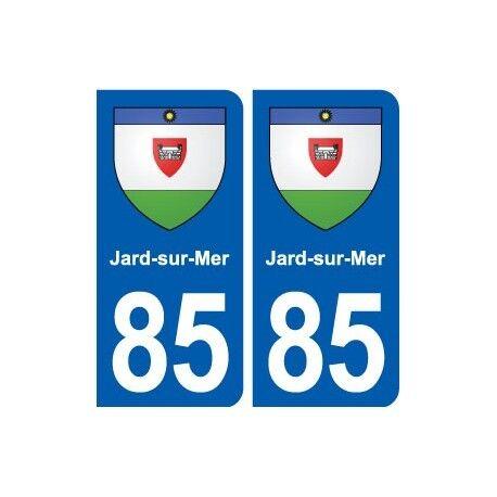 85 Jard-sur-Mer blason autocollant plaque stickers ville -  Angles : arrondis
