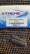 Blade 180cfx Carbon Polymer Tail Blades, Xtreme Production B180X11-K
