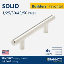 SOLID Stainless Steel T bar Kitchen Cabinet Door Handles Drawer Pulls Knobs Lot