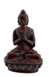 Soprammobile Tibetano Budda Vairochana IN Resina Bordeaux 11 CM 1662