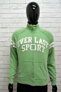 Felpa-Uomo-EVERLAST-Taglia-M-Maglione-Cardigan-Pullover-Sweatshirt-Man-Sport