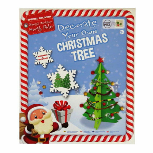 Make Your Own Christmas Tree Childrens Build Decorate Festive Xmas Present Craft