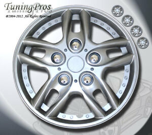 TuningPros WSC-515S15 Hubcaps Wheel Skin Cover 15-Inches Silver Set of 4