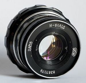INDUSTAR-61 L/D M39 55mm f/2.8 Leica Soviet Russian Lens for Zorki FED