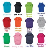Dog Hoodies Bright Soft Cotton Hooded Sweatshirt For Dogs Choose Size & Color