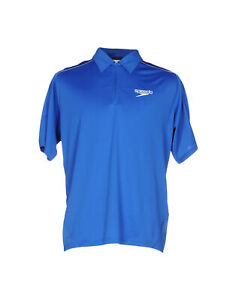 Speedo-Mens-Short-Sleeve-Polo-Shirt-Blue-XS