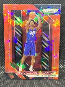 2018-Panini-Prizm-Red-Ice-Shai-Gilgeous-Alexander-Centered-Rare-HOT