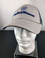 Smith /& Wesson Blue and Gray Heavy Distressed Shield Logo Cap