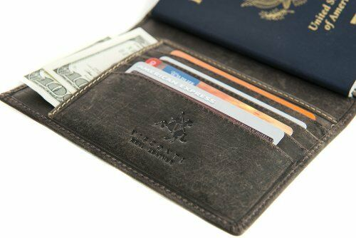 Visconti 732 Soft Leather Passport Cover Holder ID Protector Travel Wallet Case
