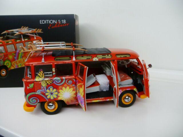 1:18 Schuco Volkswagen VW t1 samba autobús Hippie 1:18 4500283000 nuevo New