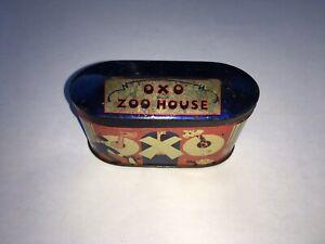 C1930s VINTAGE 'OXO' ZOO HOUSE TIN