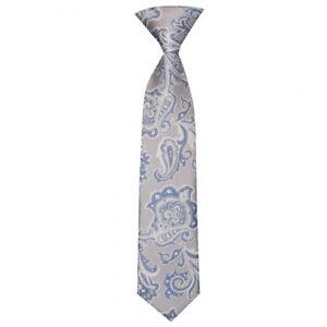 Pre Tied Dusty Pink Paisley Boys Tie Age 4-7 Children/'s Tie Wedding Tie
