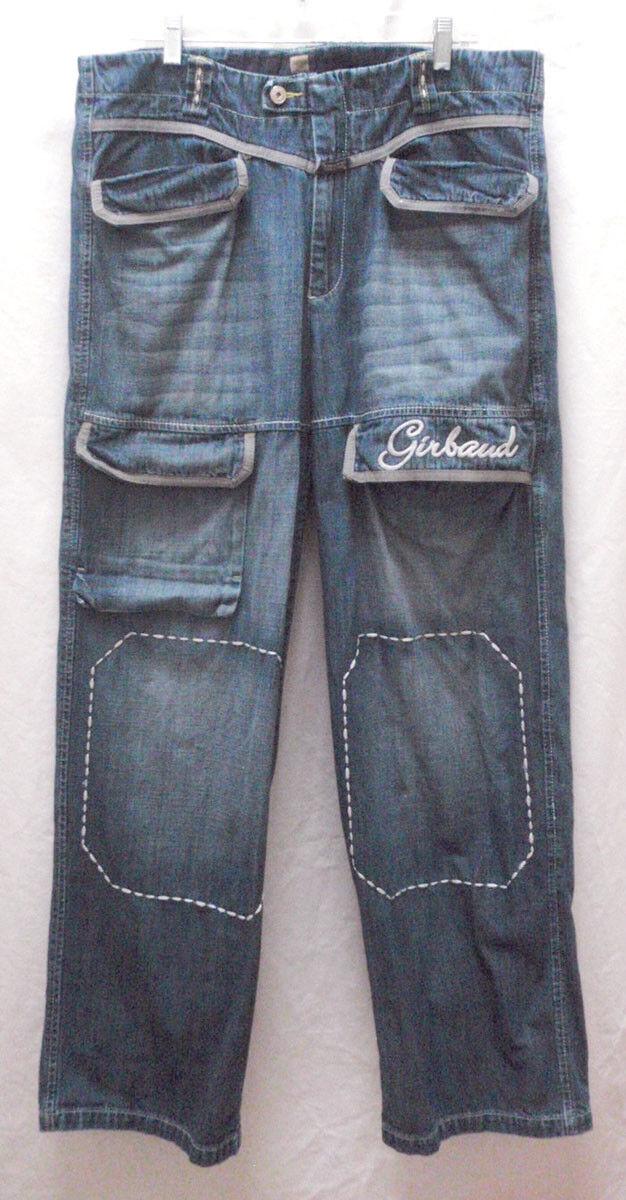 Men's Vintage Marithé & François Girbaud Rigid Jeans Loose Fit Size 38M