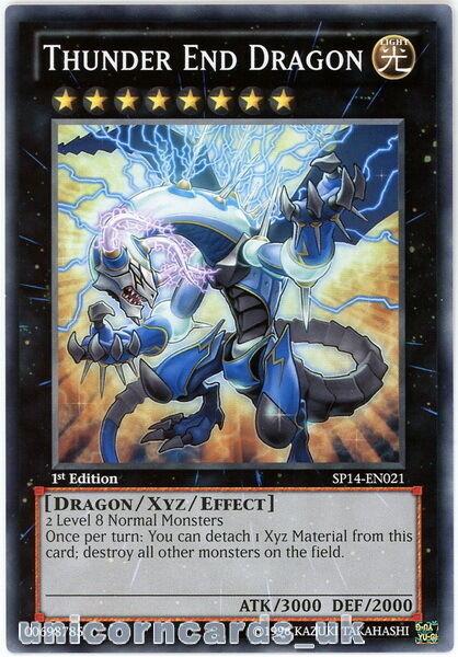 SP14-EN021 Thunder End Dragon 1st Edition Mint YuGiOh Card