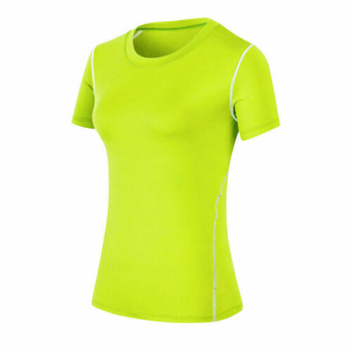 Womens Workout Tights Gym Yoga Vests Sportswear Tee Tank Tops T-Shirt Stretchy
