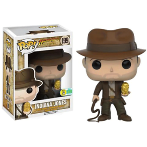 Funko Pop #199 Indiana Jones Figurine en Vinyle Brinquedos Collection Modéle New