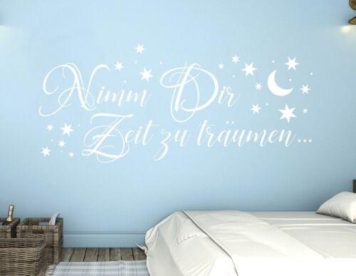 Wandtattoo Kinderzimmer Sterne Wanddtatoo Schlafzimmer Zeit zu träumen pkm342