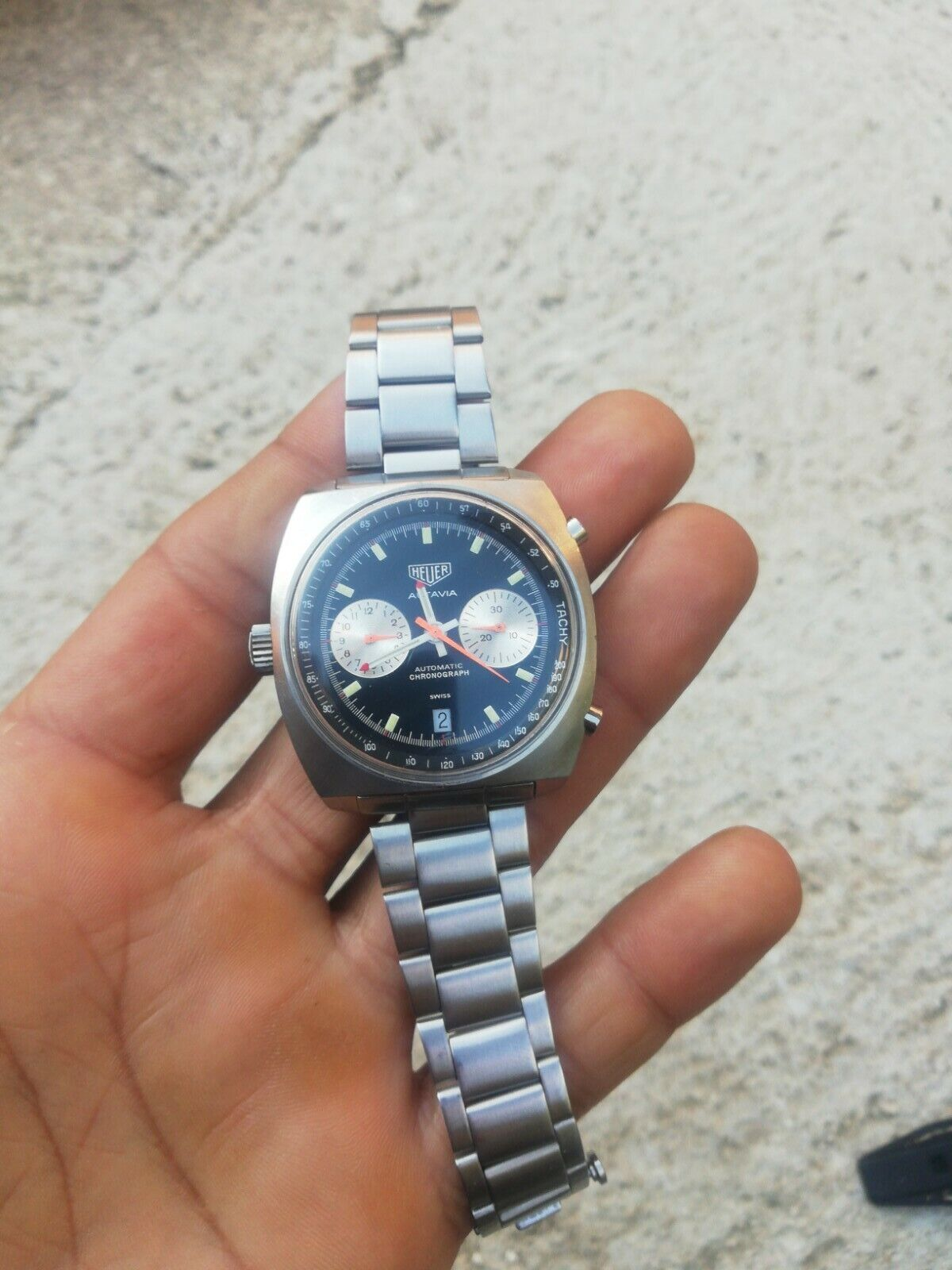 Image 1 - Vintage watch heuer autavia automatic cronograph cal 15