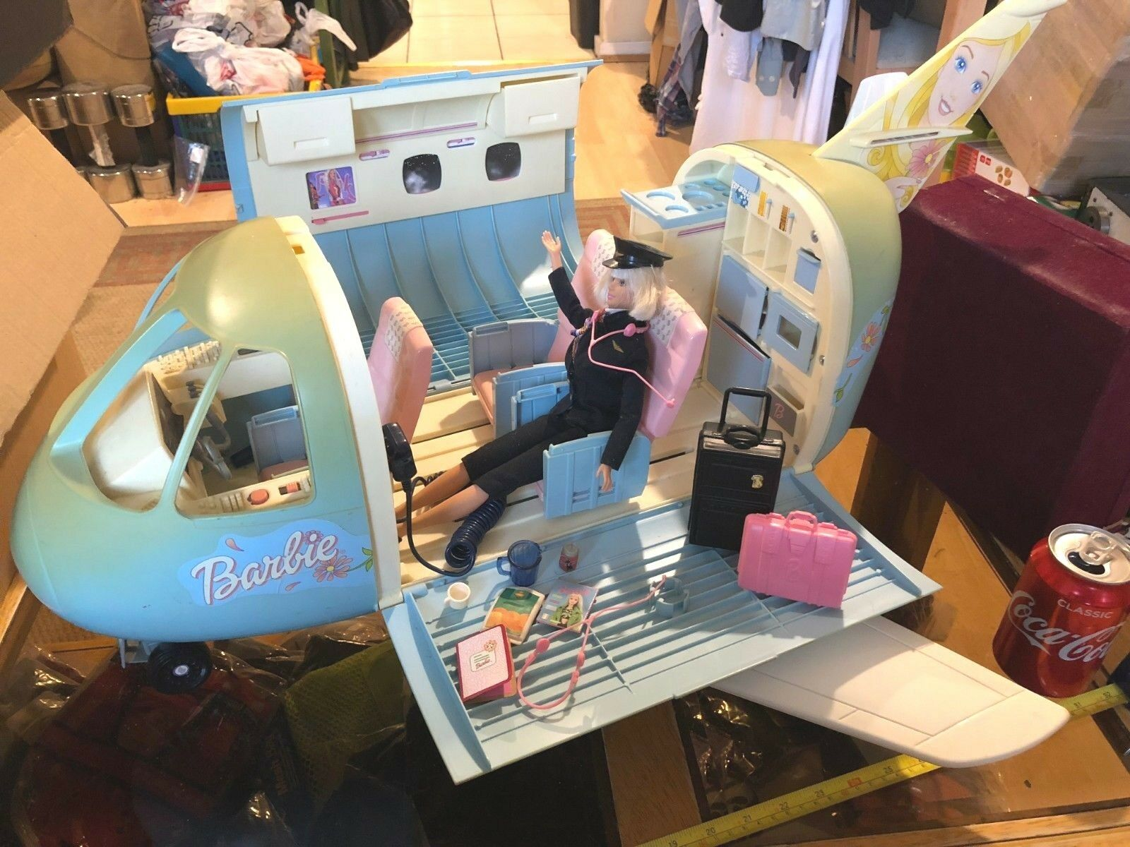 Barbie Plane Holiday Playset Vehicle Official Rare Original with Doll Pilot Toy