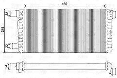 FIAT SEICENTO 187 Radiator 99 to 05 Coolant NRF 46405843 4641407 46414207 New