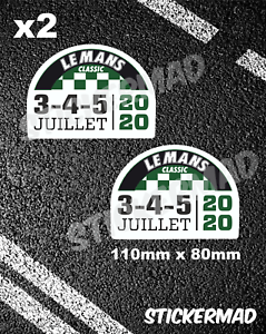 FORD GT40 motorsport LEMANS Classic 2020 Gloss Vinyl Stickers High Quality