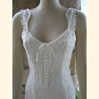 Ivory Elegant Lace Casual, Beach, Western Wedding Dress, S-xxxl