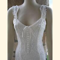 Ivory Elegant Lace Casual, Beach, Western Wedding Dress, S-xxxl