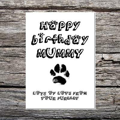 happy birthday daddy love from the dog your furbaby funny cute birthday card