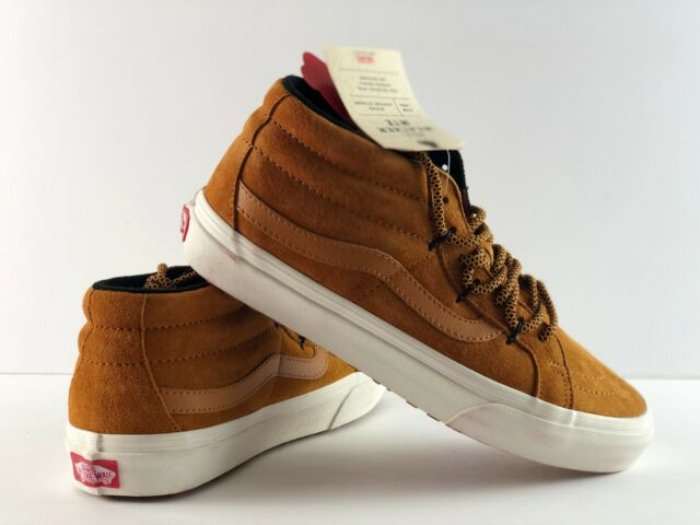 f1c24302 VANS Womens Sk8-mid Reissue MTE All Weather Sudan Brown Skate Shoes Size 8