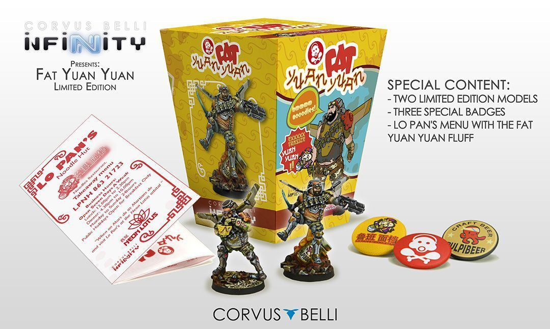 Infinity The Fat Yuan Yuan Limited Edition 2 Minis Corvus Belli Mercs 280015