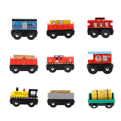 Baby Animals Wooden Trains Model Toy Magnetic Train Kids Education Toys Gift CL