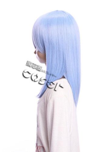 W-02-BC39 Bright-Blue Blue 15 11//16in Cosplay Wig Wig Hair Anime Manga