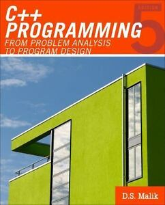 Introduction To Programming C Programming From Problem Analysis To Program Design By D S Malik 2010 Paperback