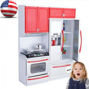 Details about Mini Kitchen Set For Kids Cooking Pretend Play Cooking Role  Game Toddlers Toy
