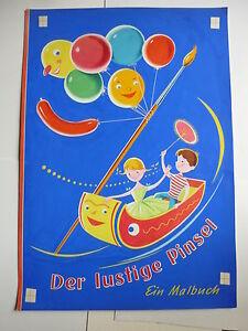 Originalzeichnung Malbuch Lustige Pinsel Titelbild Illustration