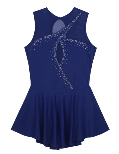 Women Ballet Gymnastics Leotard Dress Roller Skating Bodysuit Dancewear Costume