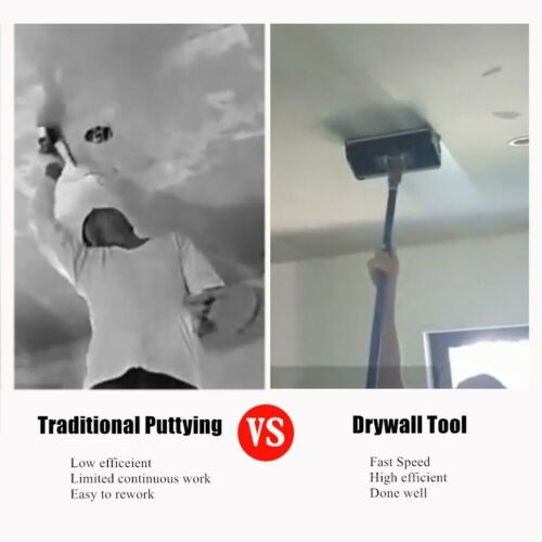 9/'/' Drywall Flat Finishing Plaster Box Tool with 40/'/'-64/'/' Box Handle Top