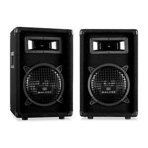 PAAR-DJ-PA-STATIV-BASS-LAUTSPRECHER-HIFI-STEREO-STAND-BOXEN-2X-300W-SOUND-SYSTEM