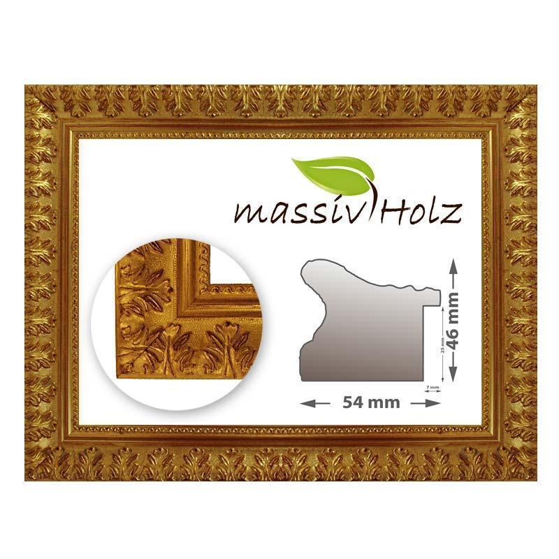 Cornice Barocca 750 oro, oro, finemente decorata, in diverse varianti